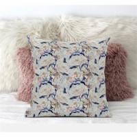Amrita Sen Roses Sprayed Stars 20 x20  Suede Pillow in Gray Purple Indigo - 1