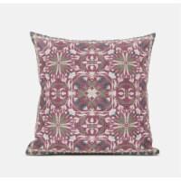 Amrita Sen Jahan Paisley 20 x20  Suede Pillow in Purple Blue - 1