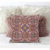 Amrita Sen Jahan Paisley 20 x20  Suede Pillow in Indigo Light Blue - 1