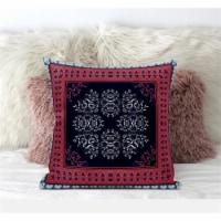Amrita Sen Window Wreath Palace 18 x18  Suede Pillow in Light Blue White - 1