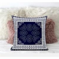 Amrita Sen Window Wreath Palace 16 x16  Suede Pillow in Muted Magenta Cream - 1