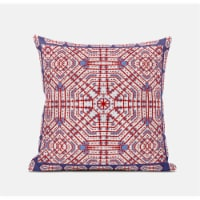 Amrita Sen Geostar Wreath Palace 18 x18  Suede Pillow in Light Blue Hot Pink - 1