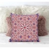 Amrita Sen Geostar Wreath Palace 20 x20  Suede Pillow in Light Blue Hot Pink - 1