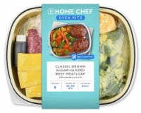 Home Chef Oven Kit Classic Brown Sugar-Glazed Beef Meatloaf With Cheddar Broccoli