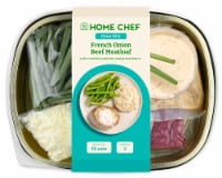 Home Chef Oven Kit French Onion Beef Meatloaf With Mashed Potatoes And Green Beans