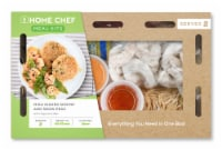 Home Chef Meal Kit Miso Ginger Shrimp And Snow Peas With Crispy Rice Cakes