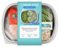 Home Chef Oven Kit Creamy Bacon And Spinach Chicken With Green Beans