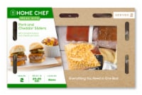 Home Chef Meal Kit Pork and Cheddar Sliders with Comeback Sauce and Chipotle Potatoes