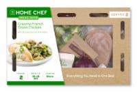 Home Chef Meal Kit Creamy French Onion Chicken with Brussels Sprouts Almondine