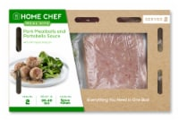 Home Chef Meal Kit Pork Meatballs and Portobello Sauce