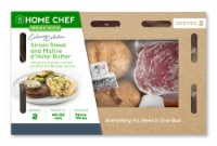Home Chef Meal Kit Culinary Collection Sirloin Steak and Maitre d'Hotel Butter