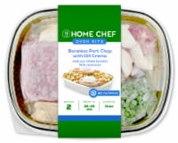 Home Chef Oven Kit Boneless Pork Chop With Dill Crema And Sun-Dried Tomato Feta Couscous
