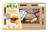 Home Chef Grill Kit Swiss Smothered Turkey Burger With Mushrooms And Slaw