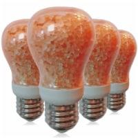 Himalayan Glow Salt LED Light Bulbs, Warm Amber Glow, Indoor Bulb, 7-Watt Equivalent, 4 Packs - 4 Count
