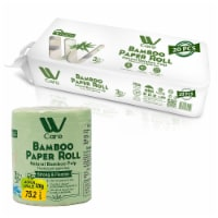 WBM Care Bamboo Toilet Paper, Strong & Flexible 3-Ply, 200 Sheets/Roll | 20 Rolls - 20 count