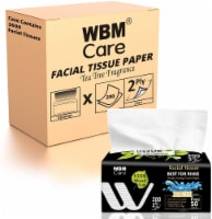 WBM Care Ultra Soft Facial Tissue with Tea Tree Fragrance, 200 Sheets/Box, Pack of 18 - 18 count