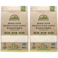 Himalayan Chef Basmati Rice, Fluffy & Long-Grain, Standup & Resealable Bag | 2 lbs - Pack 2 - 2 Count