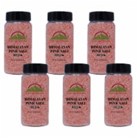 Himalayan Chef Pink Salt, 12.5 Oz Coarse Grain Plastic Shaker, Rich in Minerals | 6 Packs