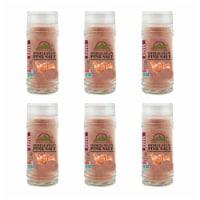 Himalayan Chef Himalayan Pink Salt, Vegan & Kosher Certified, 4.2 Oz Glass Shaker – 6 Packs - 6 count