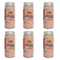 Himalayan Chef Pink Salt, Natural & Certified Coarse Salt, 17.5 Oz Glass Jar | 6 Packs - 6 count