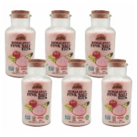 Himalayan Chef Pink Salt, Natural Crystal Salt, 17.5 Oz Fine Grain Glass Jar Refill | 6 Packs