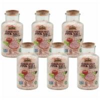 Himalayan Chef Pink Salt, Nutritious & Pure, 17.5 Oz Coarse Grain Glass Jar Refill | 6 Packs - 6 count