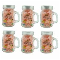 Himalayan Chef Pink Salt, 100% Natural Salt Crystals, 3.5 Oz Coarse Grain Mason Jar | 6 Packs - 6 count