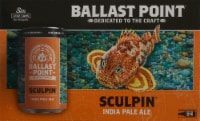 Ballast Point Sculpin India Pale Ale Beer - 6 cans / 12 fl oz