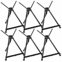 """15  to 21  Adjustable Black Aluminum Display Easel with Wings - Foldable, Portable - 6 Pack - 15"""" - 6 Pack"""