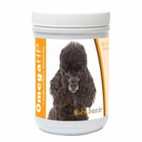 Healthy Breeds 840235112297 Poodle Omega HP Fatty Acid Skin & Coat Support Soft Chews, 90 Cou - 90