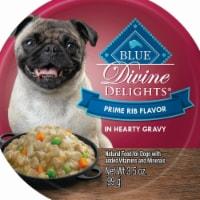 Blue Buffalo 596626 3.5oz Divine Delights Prime Rib Flavor in Hearty Gravy Wet Dog Food-12 PK