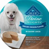 Blue Buffalo 3.5oz Divine Delights Grilled Chicken Flavor in Savory Juice Wet Dog Food 12Pk