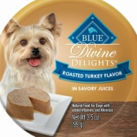 BLUEB 596627 Adult Small Breed Roasted Turkey Flavor in Savory Juice Wet Dog Food - 3.5 oz. - 1