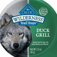 Blue Buffalo 596734 3.5 oz Wilderness Trail Duck Grill Wet Dog Food - Pack of 12 - 12