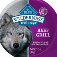 Blue Buffalo 596732 3.5 oz Wilderness Trail Beef Grill Wet Dog Food - Pack of 12 - 12