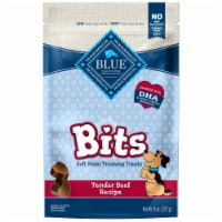 Blue Buffalo Blue Bits Natural Tender Beef Recipe Soft-Moist Training Treats