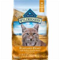 Blue Buffalo 21012383 Wilderness Flatland Feast Grain Free Turkey Dry Cat Food - 10 lbs - 1