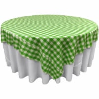 LA Linen TCcheck90x90-LimeK84 Polyester Gingham Checkered Square Tablecloth, White & Lime - 9