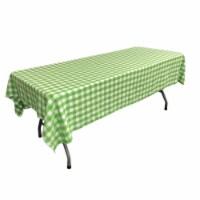 LA Linen TCcheck60x90-LimeK84 Polyester Gingham Checkered Rectangular Tablecloth, White & Lim - 1