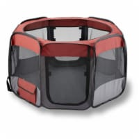 Day to Day Imports 249352 Red Port Pet Playpen