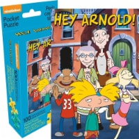 Nickelodeon 807758 Hey Arnold Group Adult Pocket Puzzle - 100 Piece