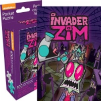 Nickelodeon 807757 Invader Zim Adult Pocket Puzzle - 100 Piece