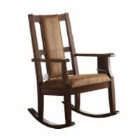 Saltoro Sherpi Butsea Wooden Rocking Chair, Brown - 1 unit