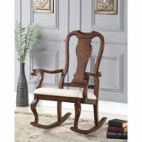 Saltoro Sherpi Sheim Rocking Chair, Cream and Brown - 1 unit