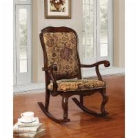Saltoro Sherpi Sharan Rocking Chair, Cherry Brown - 1 unit
