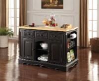 Ariuk - Kitchen Cabinet Antique Black (Granite Cutting Board)