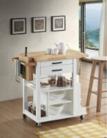 Zillah - Kitchen Cart Natural & White - 1