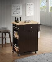 Zina - Kitchen Cart Natural & Wenge