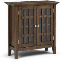 Simpli Home Bedford Low Storage Brown Media Cabinet - 1 ct