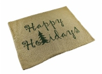 Evergreen Happy Holidays Woven Cotton Pillow Cover 14 X 18 in. - Medium